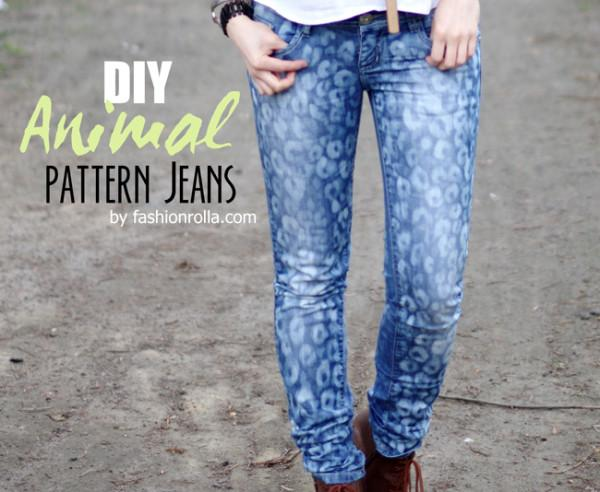 7.[DIY] Animal Pattern Jeans