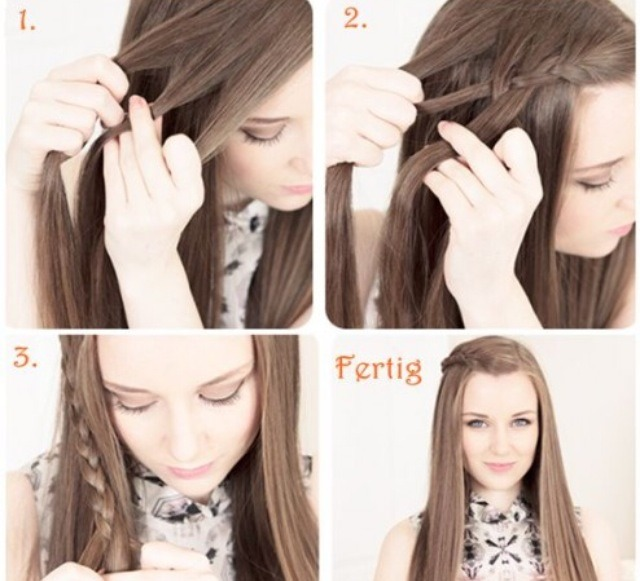 This is a really simple hairstyle to do, just start off with a side French plait and then turn it into a normal plait 💆