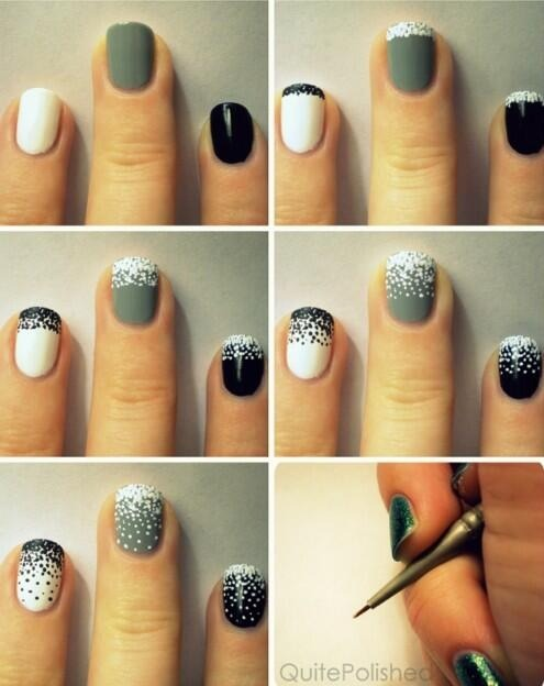 Simple blizzard nail art design for winter! So cute! - Musely