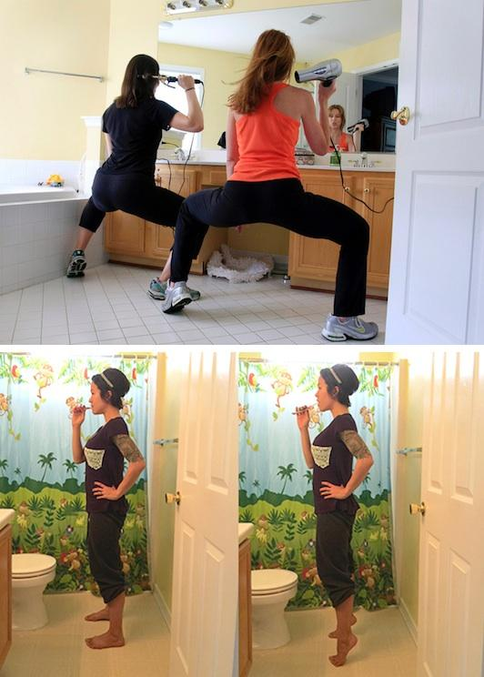 9. Workout While Getting Ready