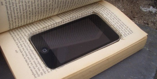Image result for book against phone