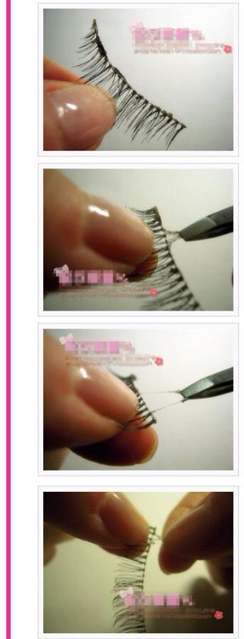 FRemove remaining lash glue from false lashes