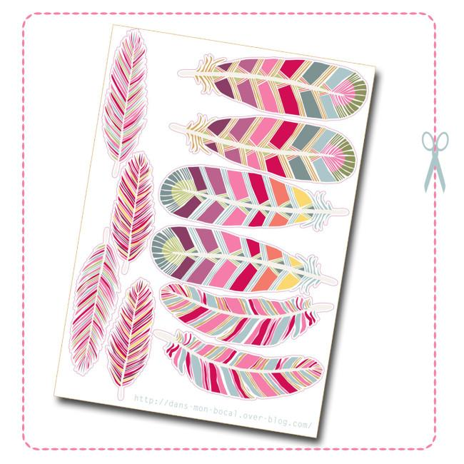 Print The Feathers here:http://dans-mon-bocal.over-blog.com/article-attrape-reve-123287544.html