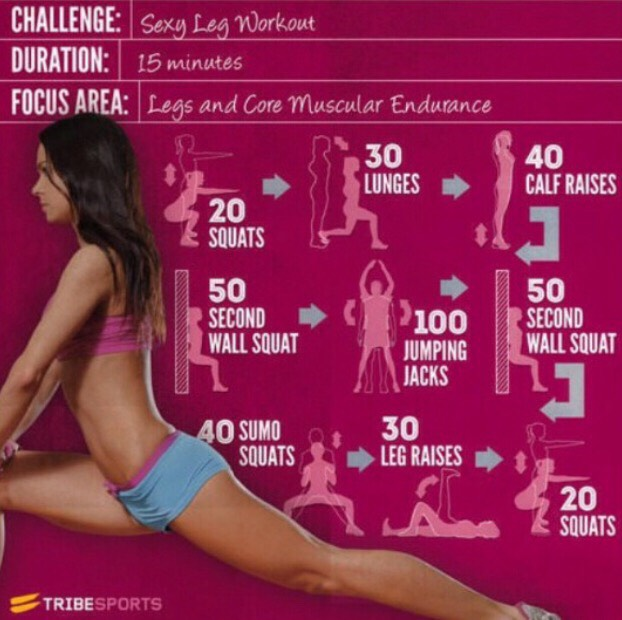 Get super toned sexy legs with this workout