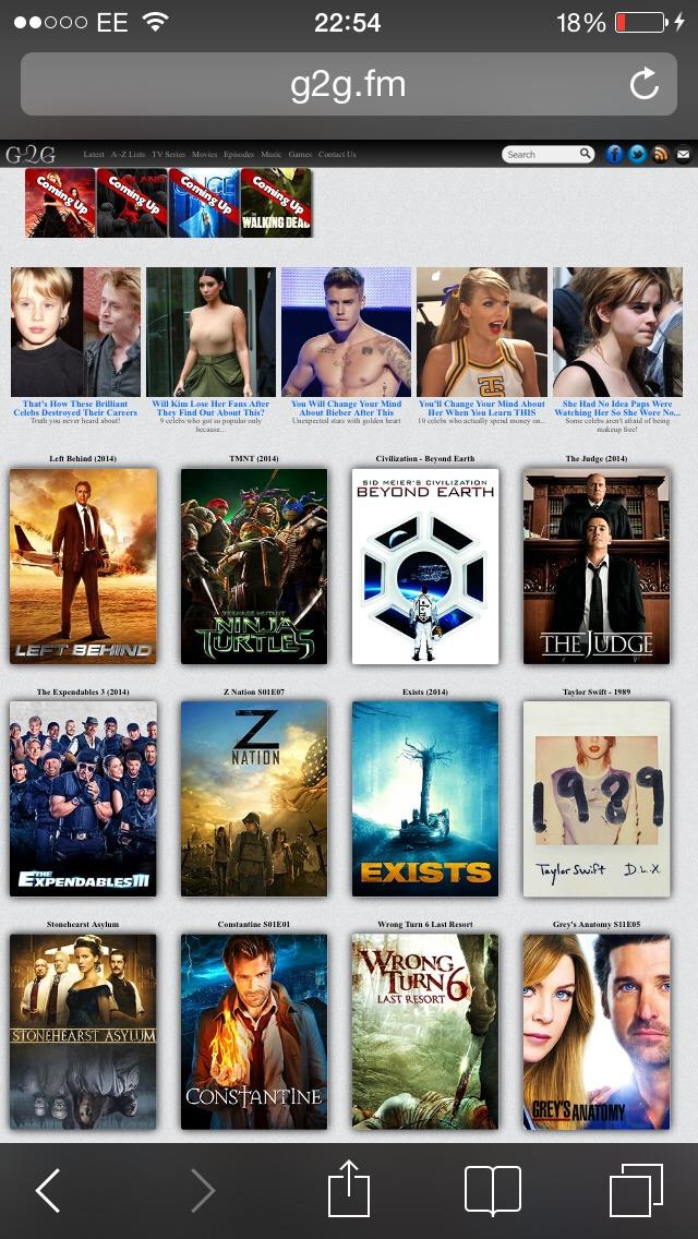 Glow gaze- (G2G.com) full length movies- not as recent.