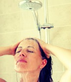 Myth #3: A cold-water rinse makes your hair shinier.