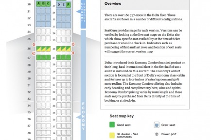 How to Score the Best Seats on the Plane  Type in your airline, flight number and date of departure to locate your plane information and pick the best seat with SeatGuru's seat maps. You'll find ratings, seat advice, flight information and details on which seats have power jacks, personal television