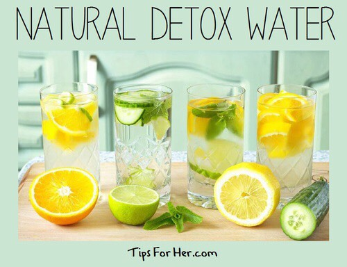 Detox water is perfect. My favorite is strawberries and lemons. ☺️