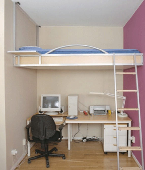 This is a bit of a simple idea. Bunk beds take up less room and look really nice