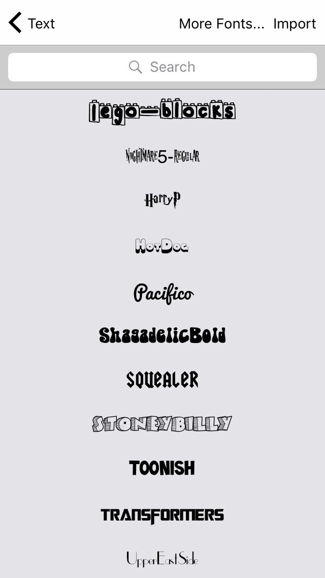Some of the awesome fonts they have