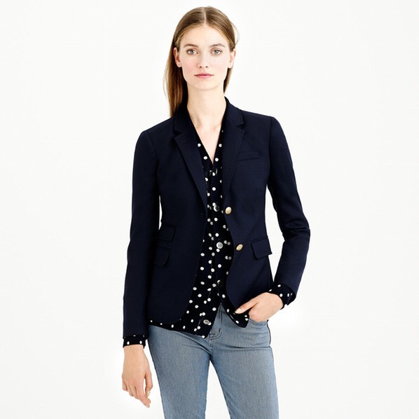 A Navy Blazer With gold buttons or not, a navy blazer is an ideal investment for undergrad and post-grad life. A well-fitted blazer is always in style, so wear one on a night out with friends or to dress up for class once and a while.