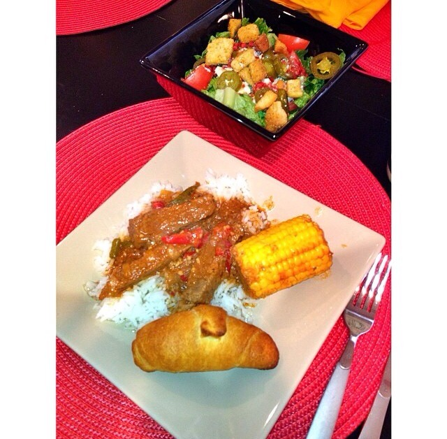 Final product :) The steak will be nice & tender. Serve over white rice with a nice salad and your ready to eat a delicious meal!!! Enjoy! Like, Share, Comment, Save