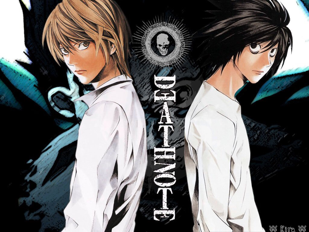 Death Note  A strategic battle between two masterminds who try to beat each other. One uses questionable methods to rid the world of crime and the other one tries to track him down. Thing is, one of them has a certain little advantage over the other.