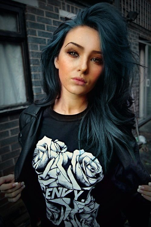 she is rocking the look! this is a cute turquoise pastel colour that will keep your hair world adventurous