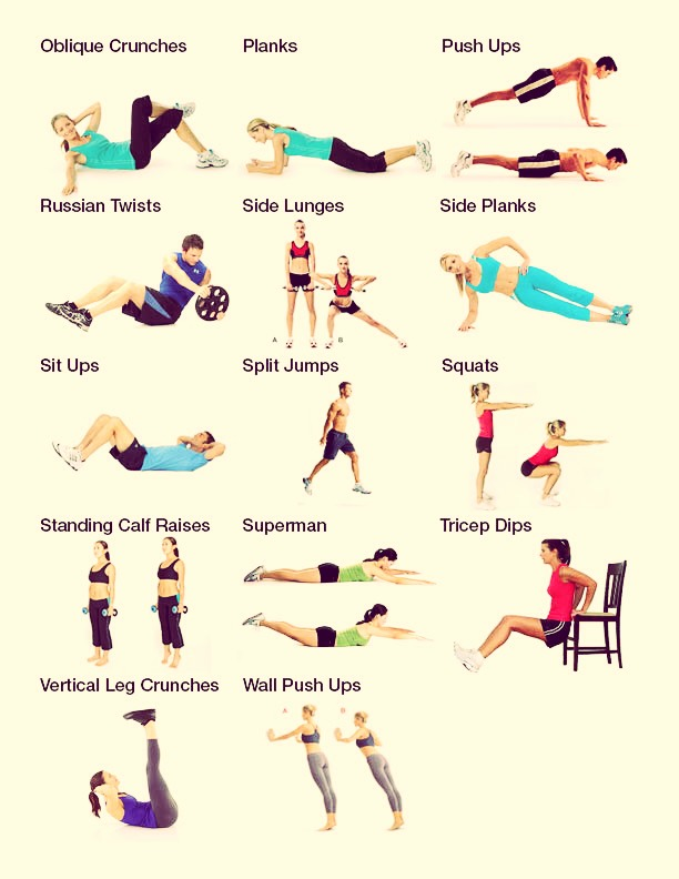 You can work out to keep strong and healthy muscles!