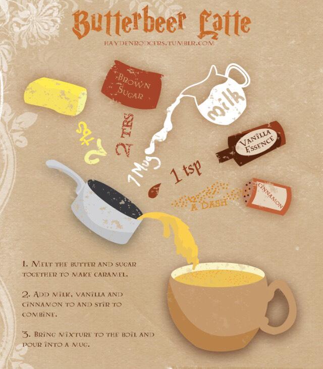 Butter beer latte
