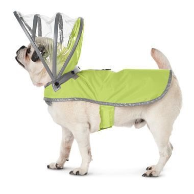 22.The Canine's Raincoat – Hammacher Schlemmer A raincoat that acts like a umbrella with a transparent hood that keeps a dog's head dry without obstructing its ears. $49.95