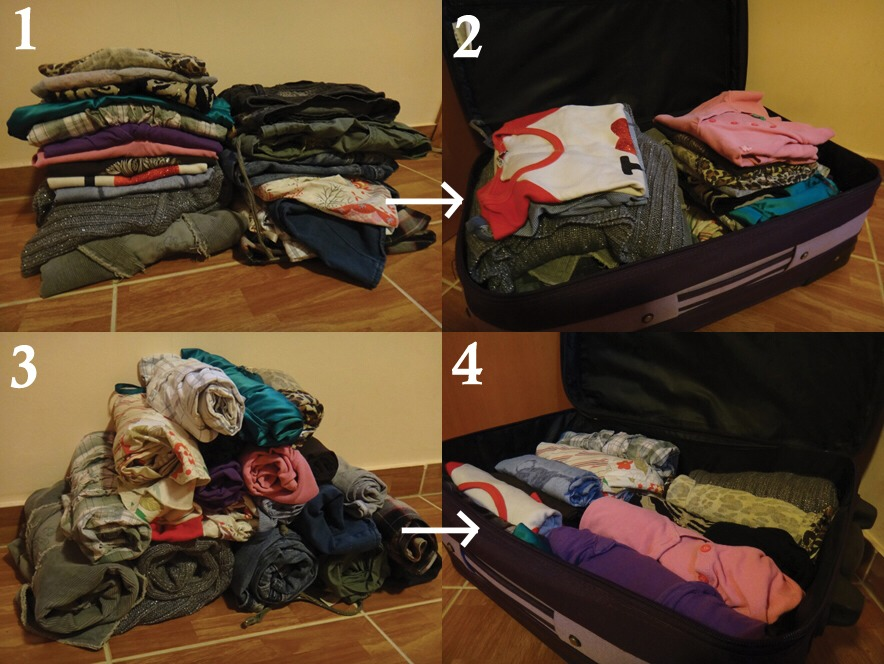 1.)INSTEAD OF FOLDING CLOTHES ROLL THEM FOR MORE SPACE👍