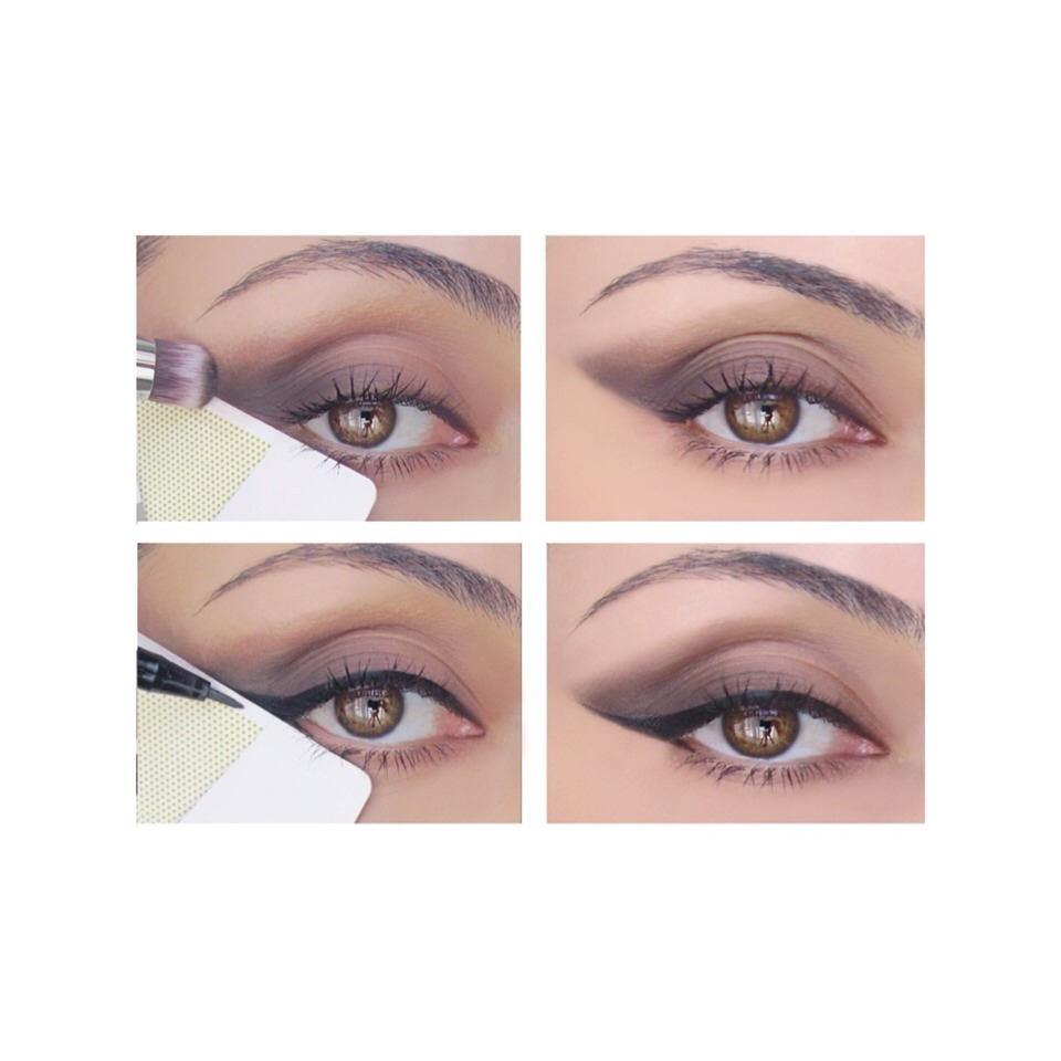 Don't leave your eyeshadow all over the place, put a tape to make it look neat and perfect