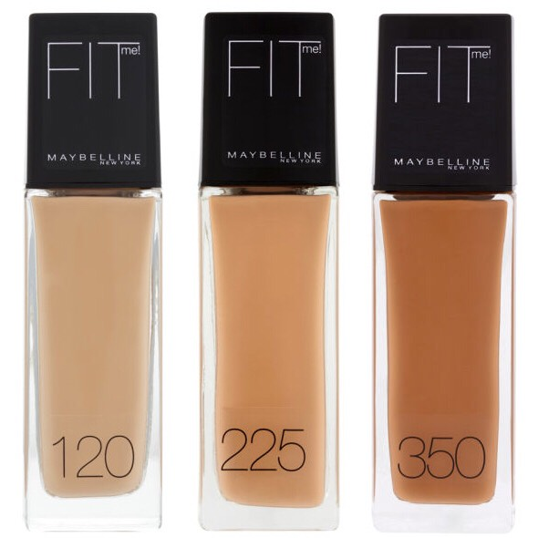 Foundation:  Brand: Maybelline Name: Fit Me Foundation liquid  This foundation is great to use with a beauty blender. It can be a little messier than most foundations due to the way the bottle is made but is well worth the after look. It gives off a nice tone overall on your face.