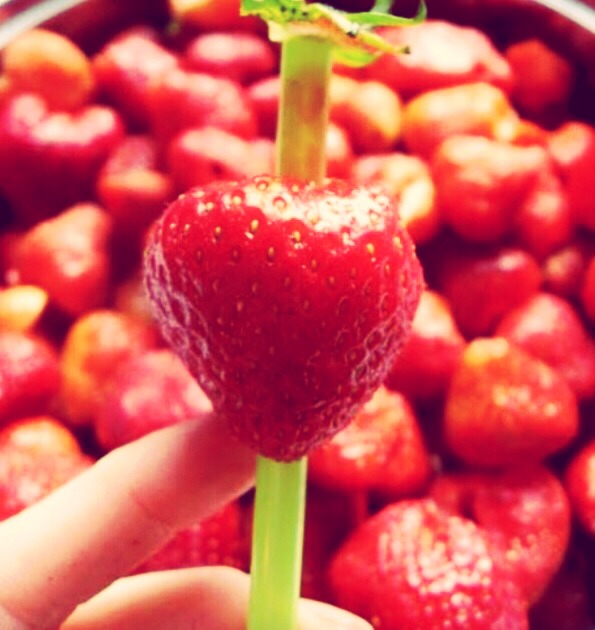 To remove the stem from strawberries, use a straw.