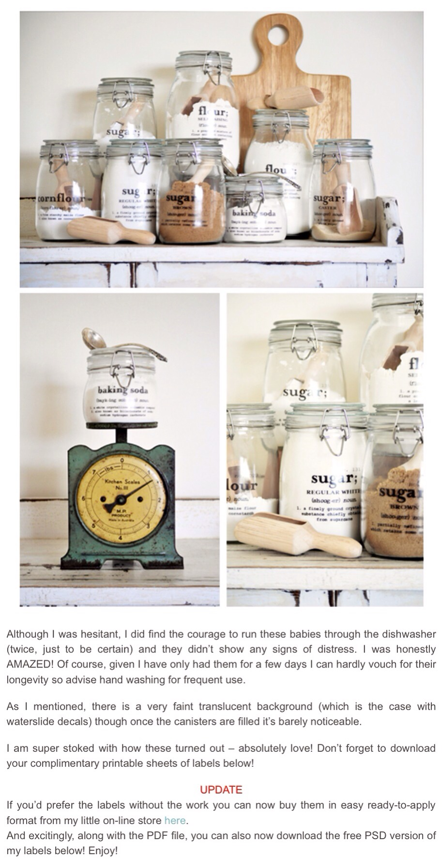Link to store:                                          Ready to use labels/Pantry canister labels:  ✨http://thepaintedhive.net/shop-pantry-canister-labels/