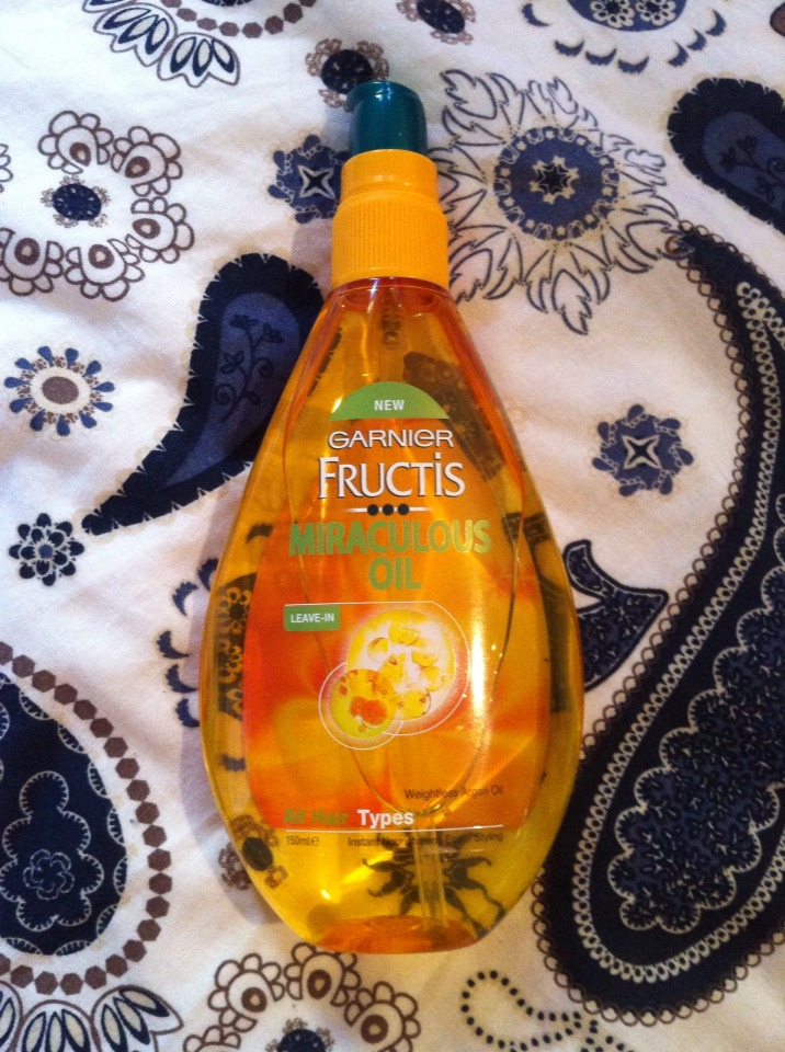 I only got this fructis miracle oil a few days ago but I already love it. It gives your hair complete nourishment, softness and shine. I got mine on special from woolworths for about $9.98