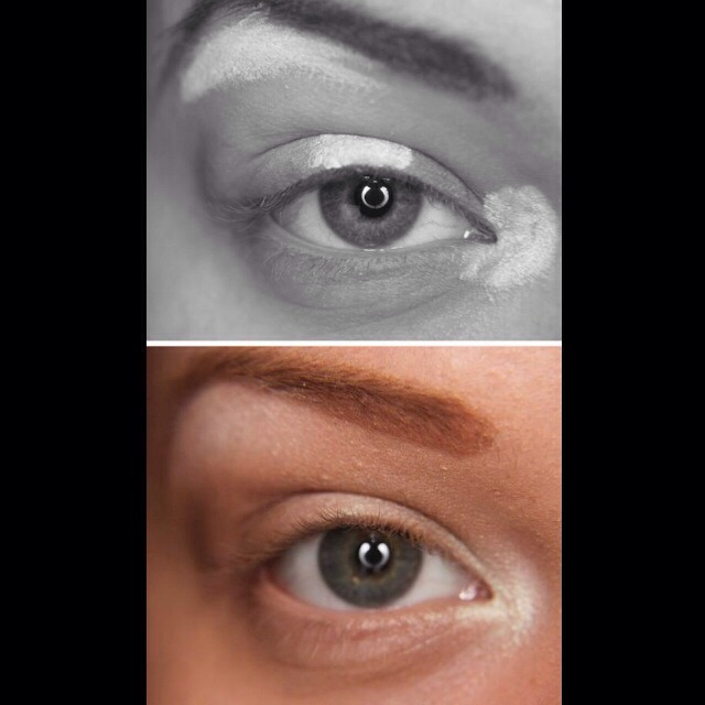 5. Eye Highlights Your lighter colors (whites, creams, and pearls) should be applied in the inner corners, the middle of the eye, and just under your brow bone. Apply your lightest colors first, and then move on to your darker shades.