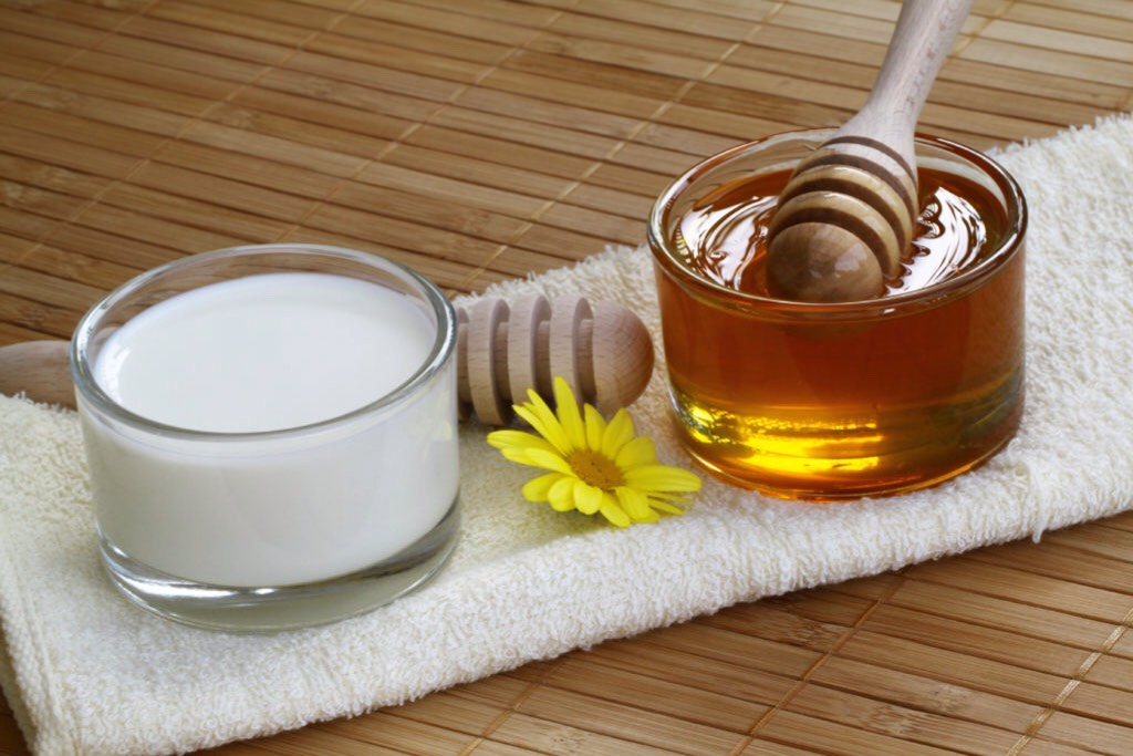 Milk + honey are all-natural ingredients that are great for skin care.  Milk baths contain lactic acid which: (1)Gently exfoliates away dead skin cells. (2)Softens + smooths rough patches. (3)Accelerates skin cell renewal. (4)Tones + tightens the skin.