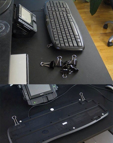 I know how frustrating it can be, fix broken keyboard legs, with binder clips! So easy and cheap!!