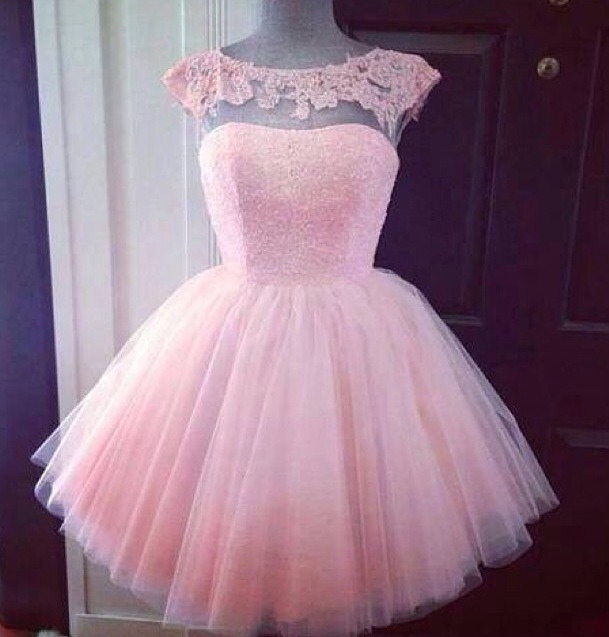 This lovely baby pink could be wore for prom