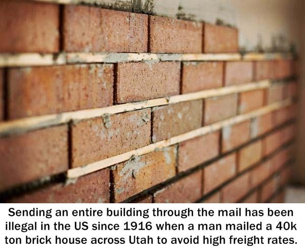 1.) Don't try to mail a building.