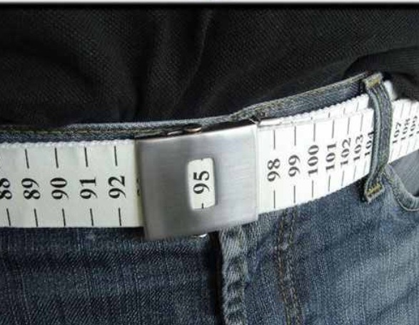 A belt that measures your waist in centimeters!