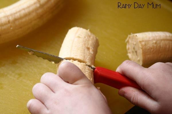 cut bananas