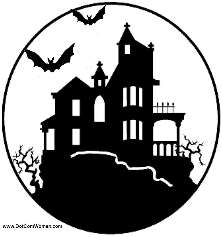 Haunted House Stencil More kid-friendly carving ideas this way.