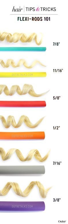 These are some different sizes and the way the make some curls look