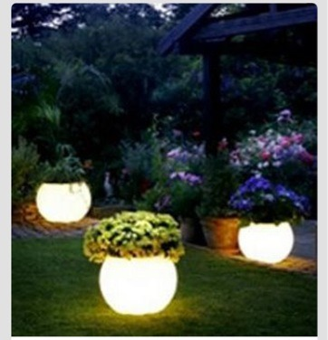 This would be so beautiful for the yard @ night please enjoy & Flower Pot Painted With Glow In The Dark Paint by Demple Fairley ...