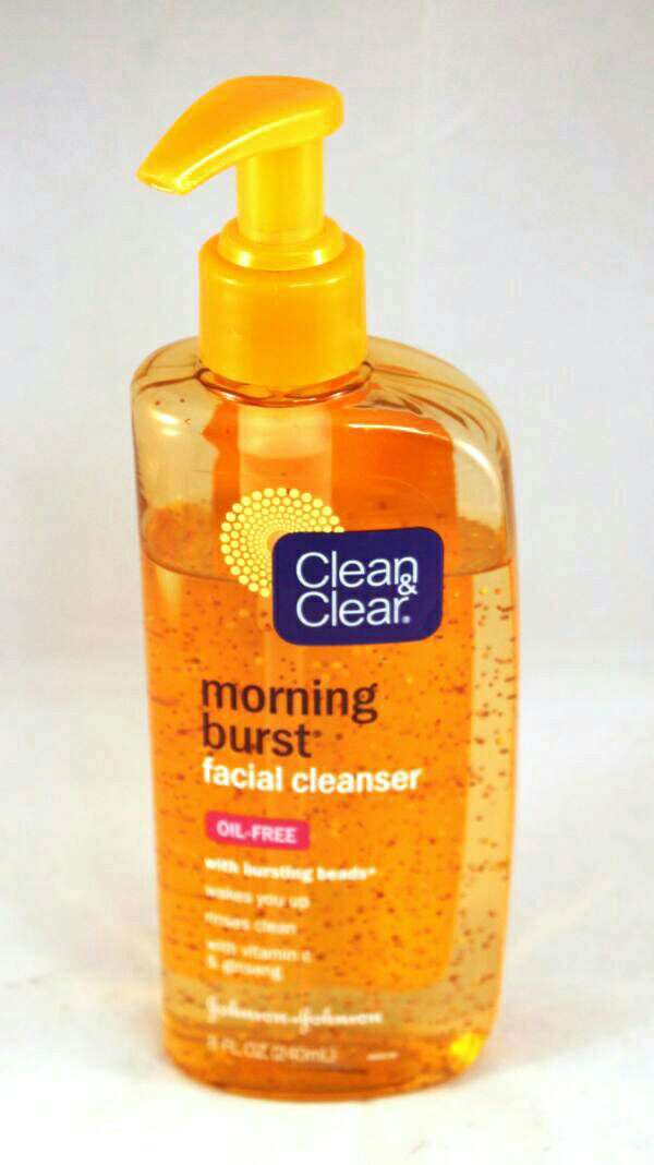 I wash my face first, I love this cleanser!!leaves my face feeling soft and clean. it wakes me up too!!