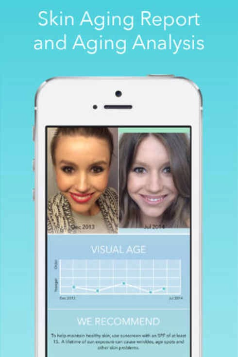 It can tell you a lot using photos over time, like how your skin is aging, what kind and color of foundation you need, and what your best colors are. And it even works on hair! Currently available for iPhone.