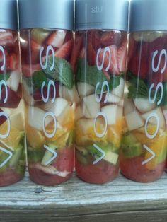 Voss detox fruit water, amazing for cleansing the body