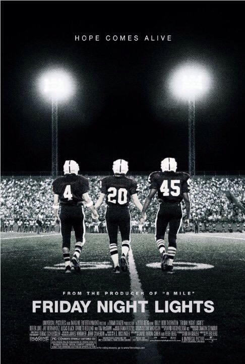 Friday Night Lights is a drama series based around a high school football team in Texas.