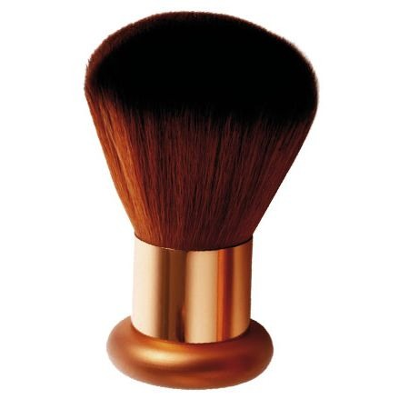 Now, dip the brush into your favorite bronzer,  tap off any excess, and gently add to cheek bones. You may add additional or less as coverage is needed.