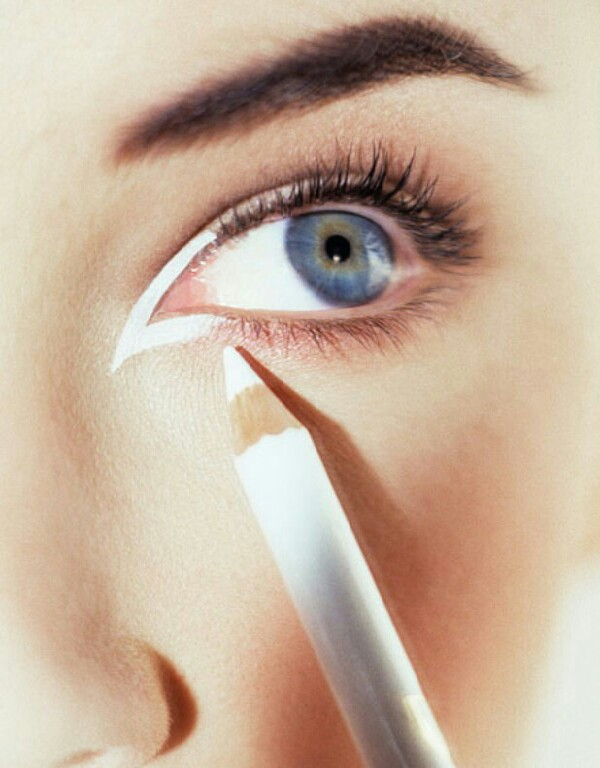 What you'll need: white eyeliner