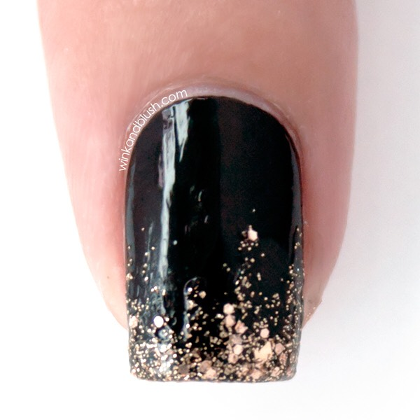 * Get a lovely gradient by painting glitter polish onto half of your nail.