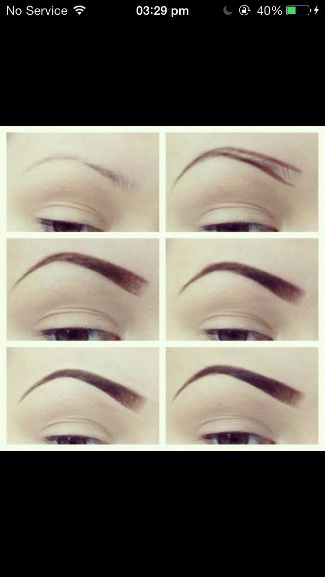 Out line your natural brows with a pencil eyeliner. This can be how thick or thin you would like it to be. Then fill in with a natural brow powder (double tap)