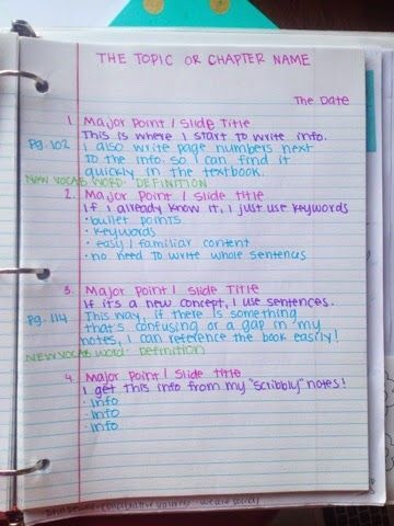 Color code your notes
