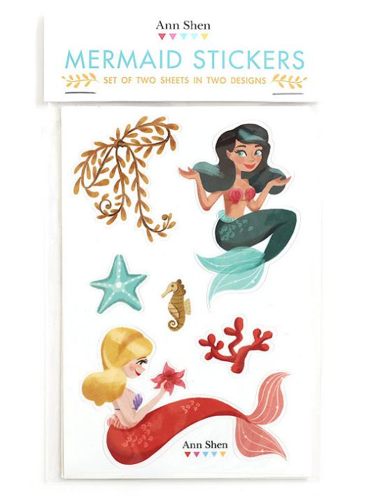 17. Some nautical illustrated stickers.