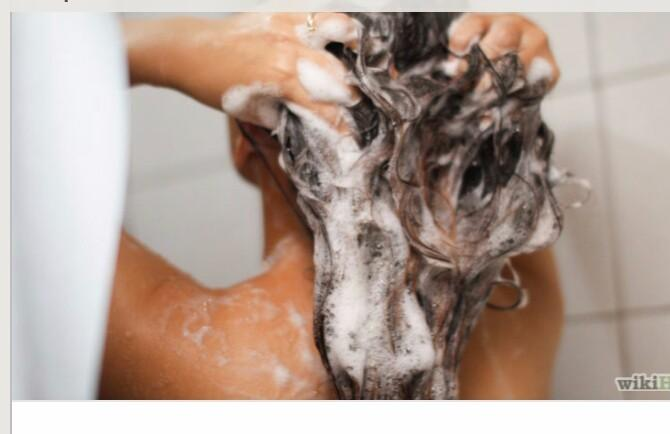 1 First wash and condition your hair using shampoo and conditioner.