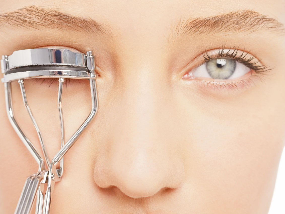 once you have added Vaseline you then curl your eye lashes with eye lash curlers  to the volume you would like!