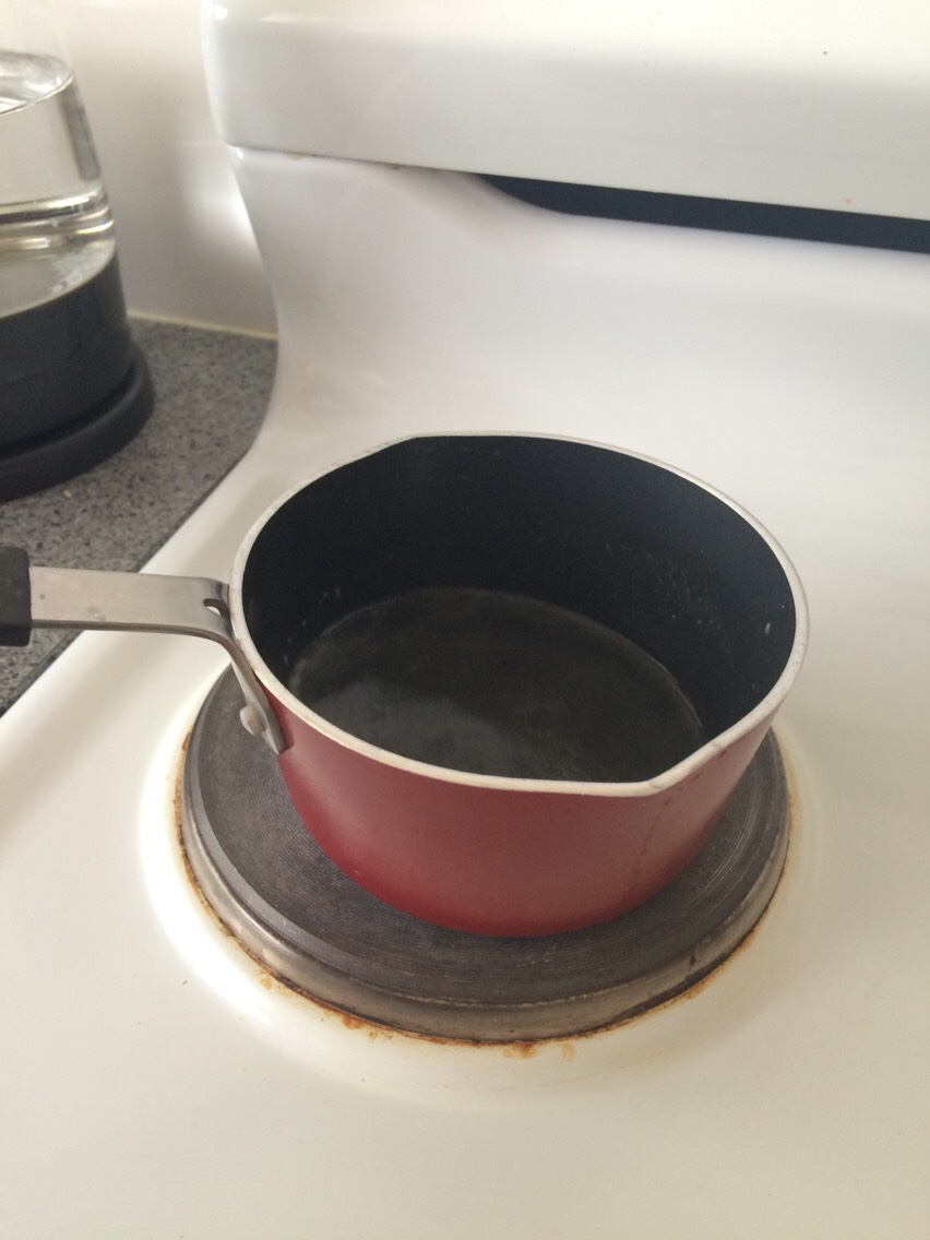 Put the oil in a pan and turn your stove up all the way.